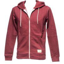 BLEND - Vestes sweats zippés capuche Riom zinfandel fz cap sw Rouge 51462
