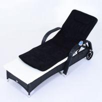 HOMCOM - Matelas coussin de massage relaxation noir avec fonction chauffante et télécommande 31