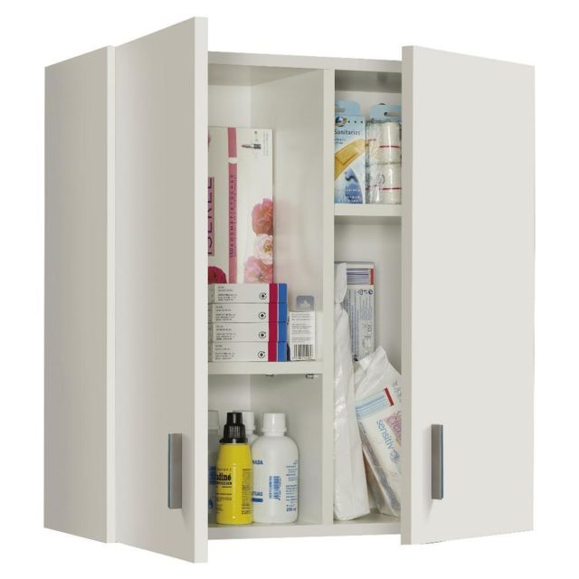 Fores Armoire murale polyvalente blanche 60 x 26 x h59 cm 005148O