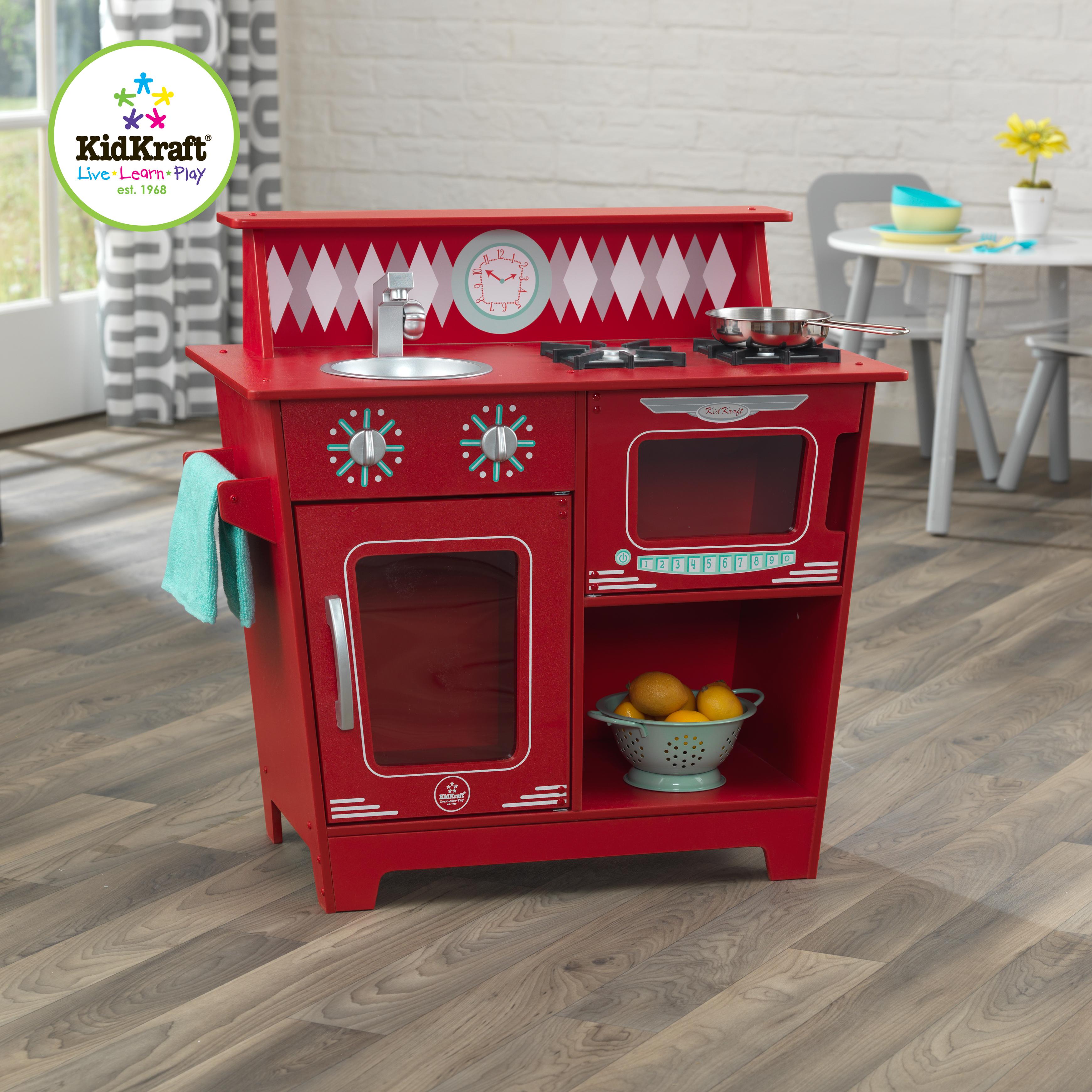 Petite cuisine classique rouge - 53362