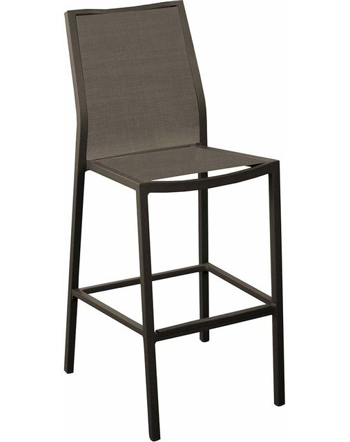 PROLOISIRS Chaises de bar en aluminium Ida Lot de 4