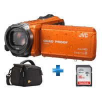 JVC - Pack GZ-R415DEU + Housse + carte 16 GO