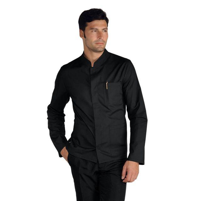 isacco veste homme col mao tissu l g coreana noir pas. Black Bedroom Furniture Sets. Home Design Ideas