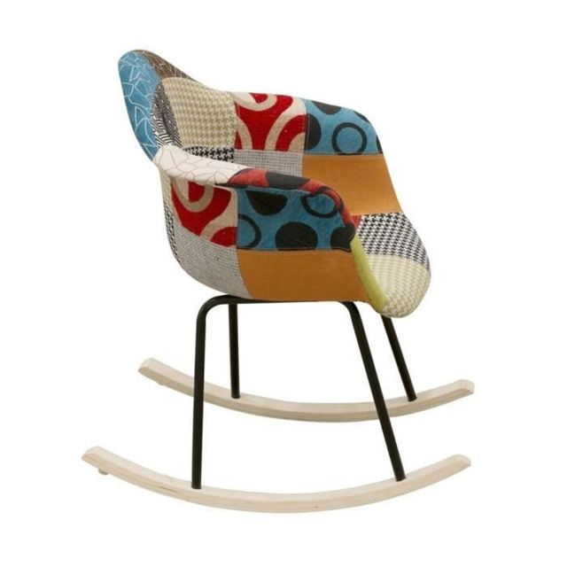Icaverne Fauteuil Lullaby Fauteuil a bascule Tissu