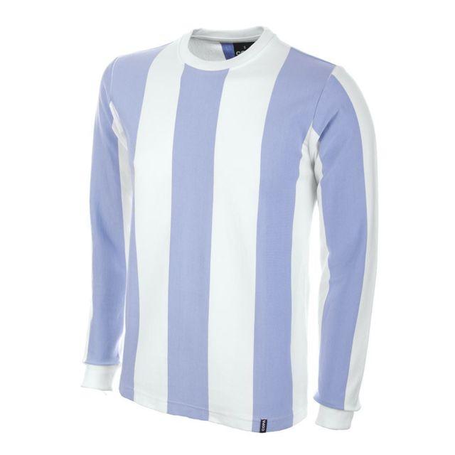 Copa Football - Maillot domicile manches longues Argentine 1970's blanc/bleu ciel
