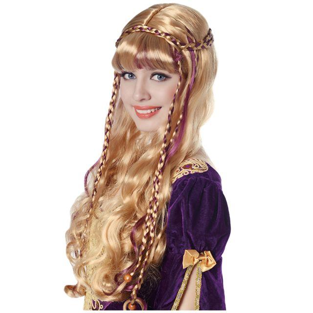Déguisement,Carnaval,Fête Disco Perruque blonde sans frange