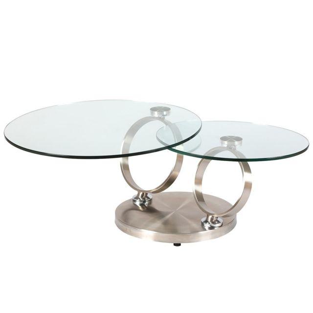 Altobuy Vaast Table Basse Ronde Gris Pas Cher Achat Vente