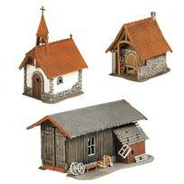 Faller - Modélisme Ho : Four à pain, chapelle et hangar à outils