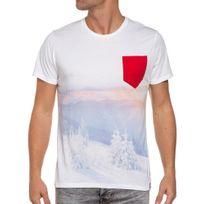 French Kick - T-shirt manches courtes poche poitrine blanc