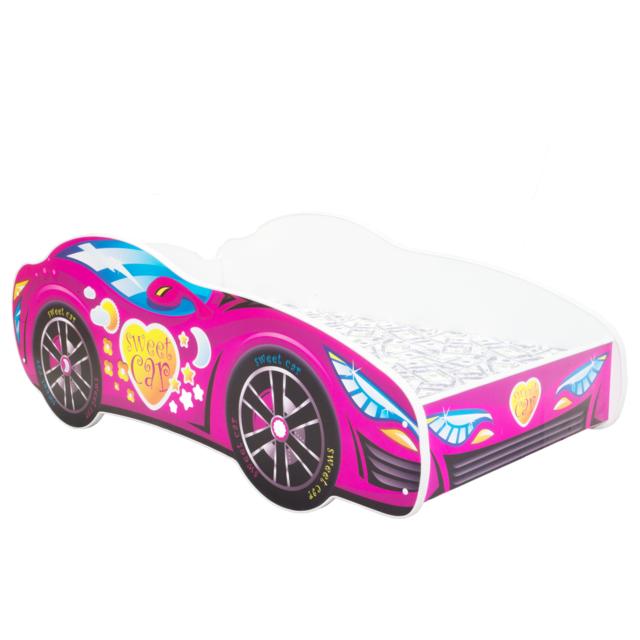 Other Lit pour un enfant - Racing Car - Pink Car MATELAS Gratuit 140 x 70 cm
