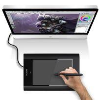 Yonis - Tablette graphique 12 pouces stylet sans fil dessin 3D digital noir