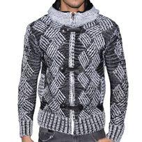Doger Wear - Gilet Zippé - Homme - Do21501 - Blanc Noir