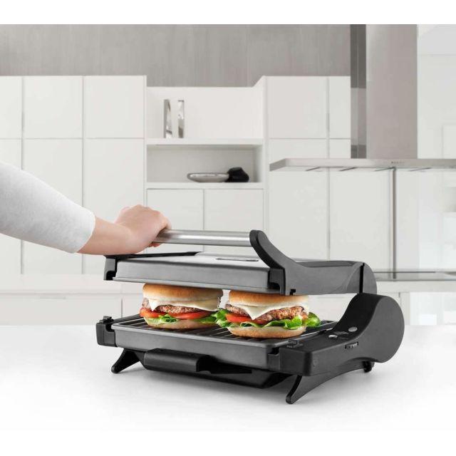 Delonghi grill viande électrique avec températures réglables 1600W noir argent