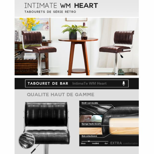 Intimate Wm Heart Iwmh Lot de 2 Chaise de bar Tabouret