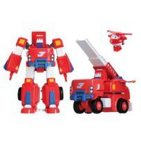 "RUE DU COMMERCE - Super Wings - Véhicule Transformable en robot ""Transforming Cruiser"" 18 cm - JETT - YW720311"