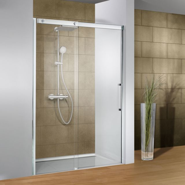 schulte porte de douche coulissante 120 x 200 cm verre transparent 2 - Porte De Douche Coulissante Pas Cher