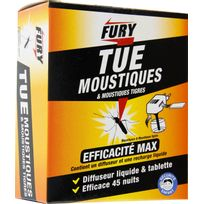 Fury - Moustiques Diffuseur insecticide universel + recharge
