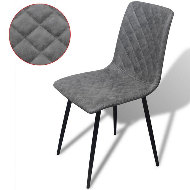 Vidaxl chaises de salle à manger 6 pcs gris en cuir artificiel