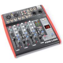 Power Dynamics - Pdm-l405 Table de mixage 4 canaux Usb Aux Mic