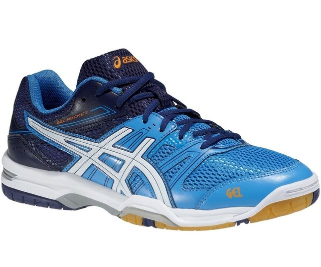 asics gel rocket bleu