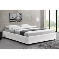 lit blanc 140x190 achat lit blanc 140x190 pas cher rue. Black Bedroom Furniture Sets. Home Design Ideas