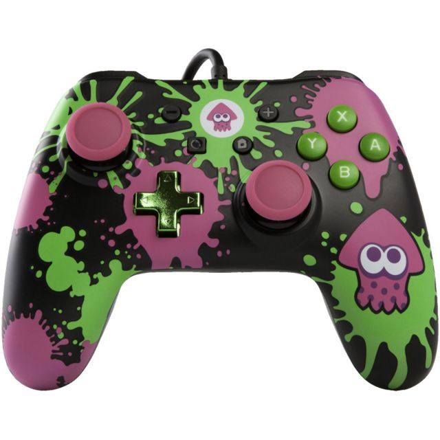 Power A , Manette filaire Nintendo Switch Iconic Splatoon