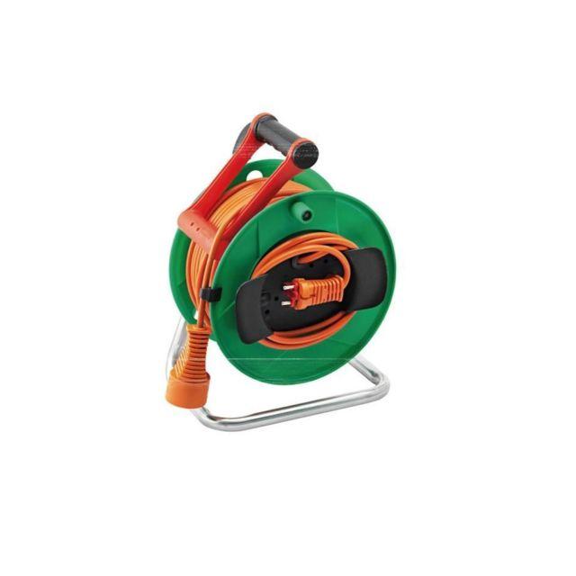 Brennenstuhl Enrouleur de câble électrique standard - Garden - 40 m - Vert/Orange