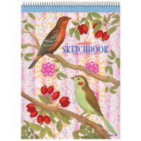 Eeboo - Bloc de papier à dessin : Oiseaux et baies