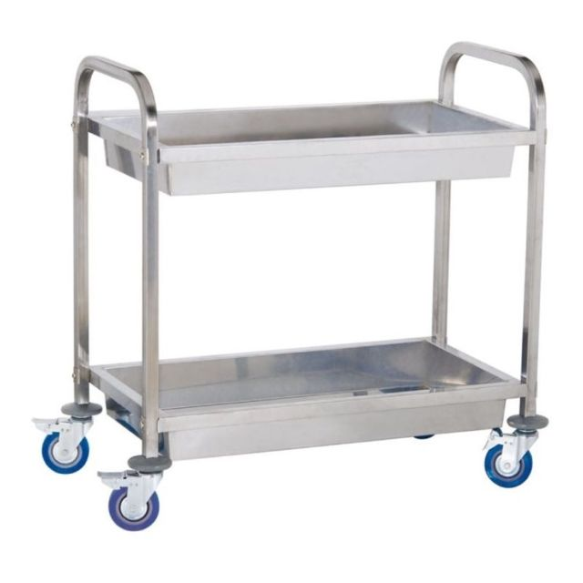 Autre Chariot de service cuisine professionnel inox 2 bacs max 320 kg 3614114