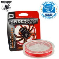 Spider Wire - Tresse Spiderwire Stealth Smooth 8 Red 300M