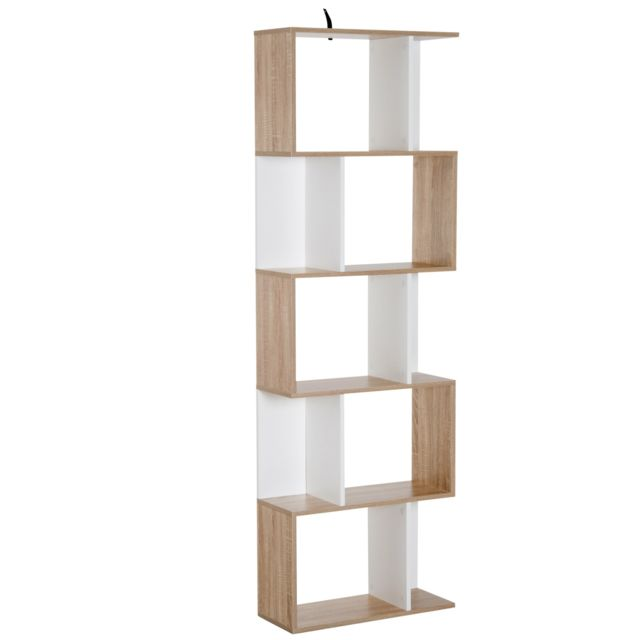 Homcom Bibliothèque étagère Meuble De Rangement Design