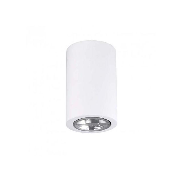 Leds C4 Plafonnier plâtre Ges H11 cm - Blanc