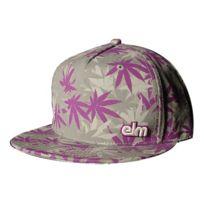 Elm - Casquette Cap Cannabis Camo purple/gray