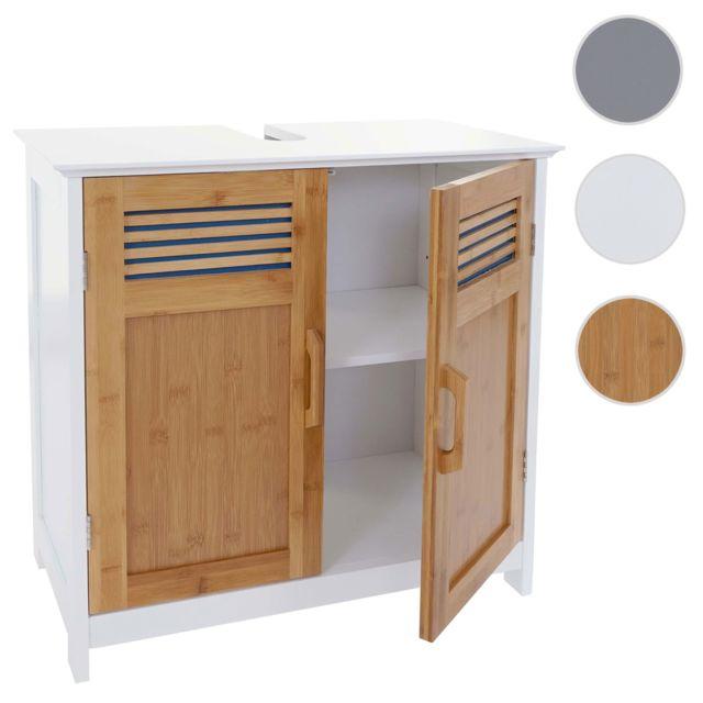 Mendler meuble sous lavabo hwc a85 commode armoire - Armoire de salle de bain pas cher ...