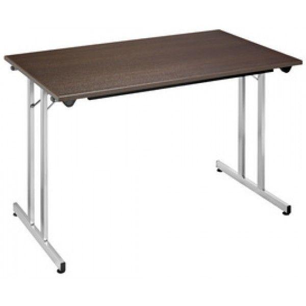 Sodematub Naudin Table pliante - 120 x 60 cm - wenge / alu