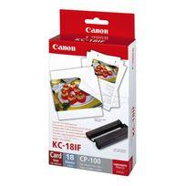 Canon - Kc-18IF Kit 18 impressions format carte de crédit autocollant