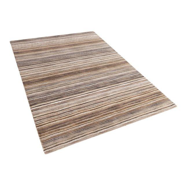 Tapis marron en coton 80 x 150 cm NIKSAR