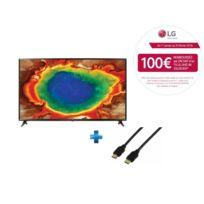 LG - TV LED 55'' 139cm - 55UJ630V + Cordon HDMI 1.4 - 1.5 mètres