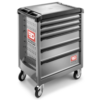 Facom - Servante ROLL6 6 tiroirs. Nouvelle génération. ROLL.6M3PB grise