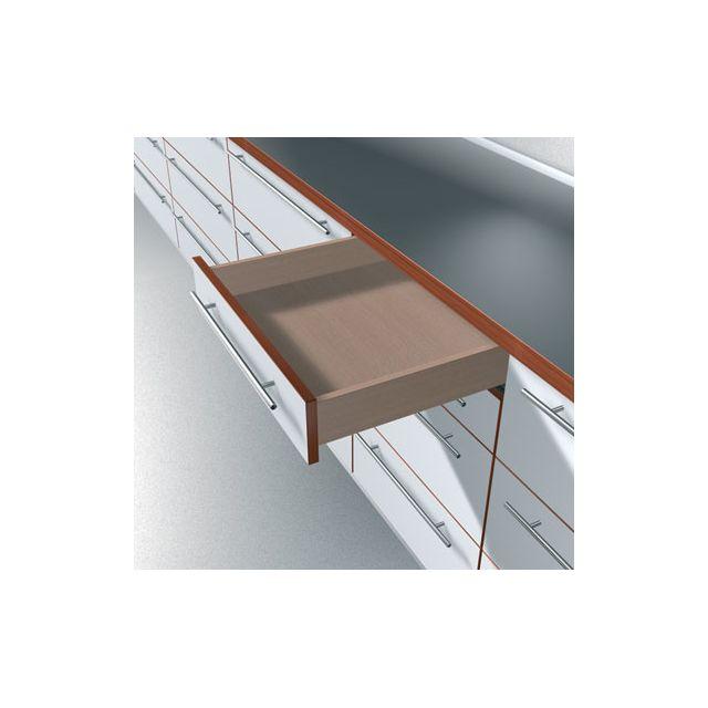 blum coulisse invisible pour tiroir bois sortie partielle charge 30 kg avec amortisseur. Black Bedroom Furniture Sets. Home Design Ideas
