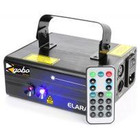 Beamz - Elara Double laser 300MW Rb Gobo Dmx Irc