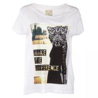 Eleven Paris - Tee shirt à manches courtes imprimé et slogan femme