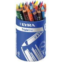 Lyra - crayon de couleur aquarellable triple one - pot de 36