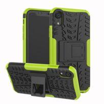 7fb4c12d08 Wewoo - Coque Pneu Texture Tpu + Pc antichoc pour iPhone Xr, avec support  Vert