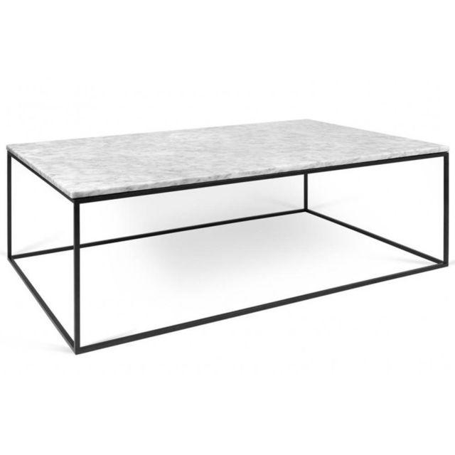 Elegant Inside 75   Table Basse Rectangulaire Gleam 120 Plateau En Marbre.