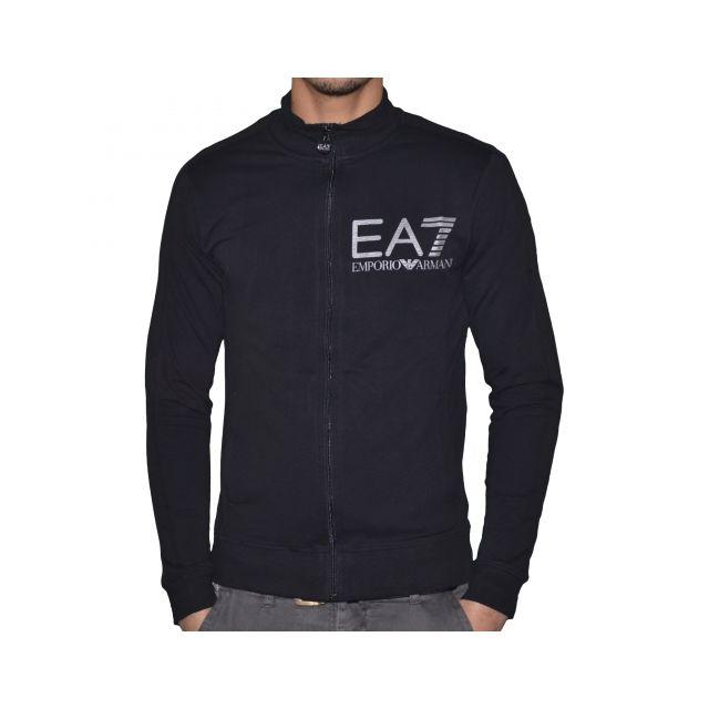 Armani - En Solde - Ea7 - Veste Zippée - Slim Fit - Homme - Visibility 2e22024efa5