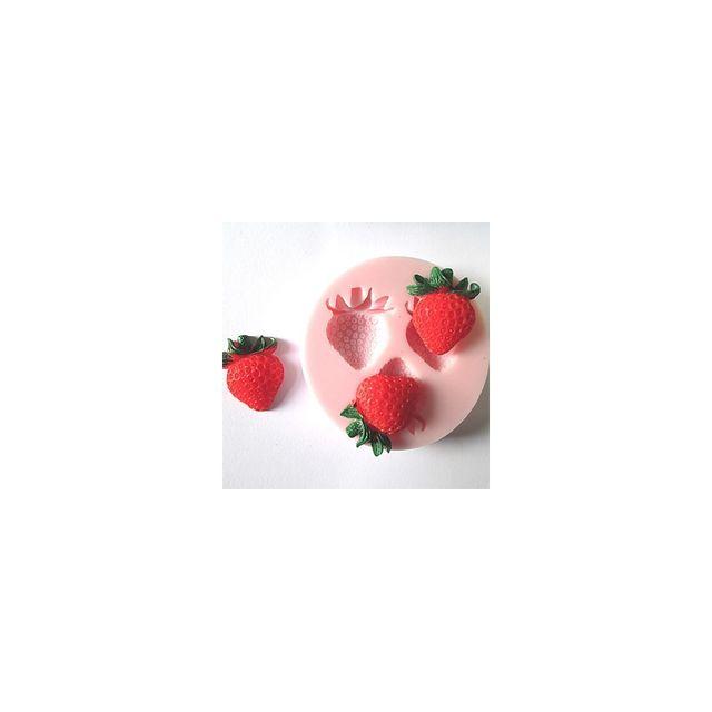 Alpexe Moule de Cuisson Fraises 3D Pour Gâteau Pour Cookie Pour Tarte Silikon Ecologique