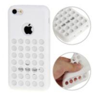 Bluetrade - Coque Tpu a points pour Apple iPhone 5c -blanc