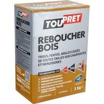 Toupret - Enduit de réparation bois cassé Poudre 1kg