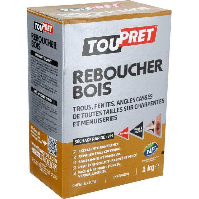 Toupret   Enduit De Réparation Bois Cassé Poudre 1kg   Pas Cher Achat /  Vente Produit Préparation Avant Pose   RueDuCommerce
